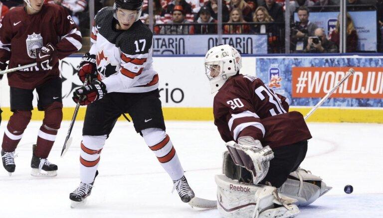 ВИДЕО: Канадцы оформили сборной Латвии на ЧМ третий разгром