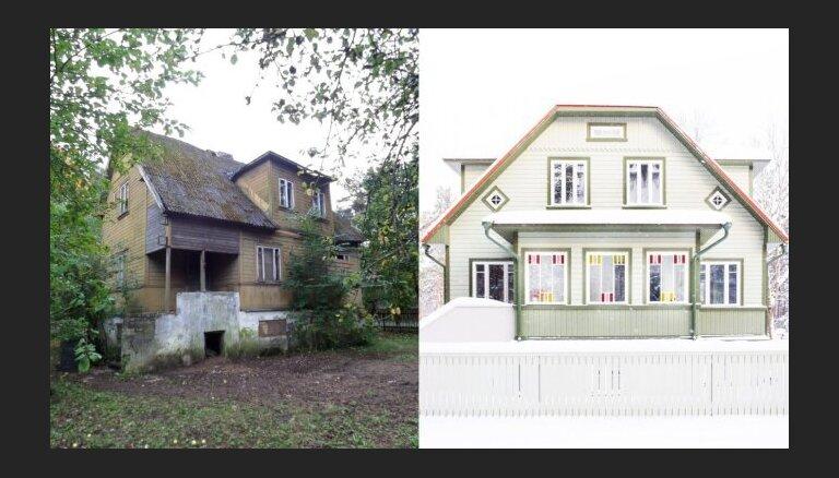 Foto: Koka māja Igaunijā, kas piedzīvojusi pasakainas pārvērtības