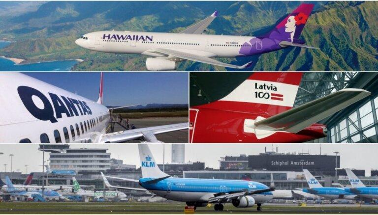 Top 10 punktuālākās aviokompānijas pasaulē, līderos arī pašmāju 'airBaltic'
