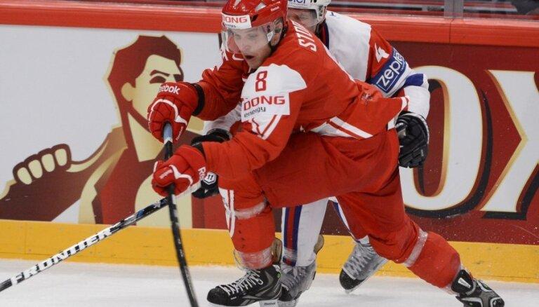 Dānijas izlase pagarinājumā pieveic Slovēnijas hokejistus