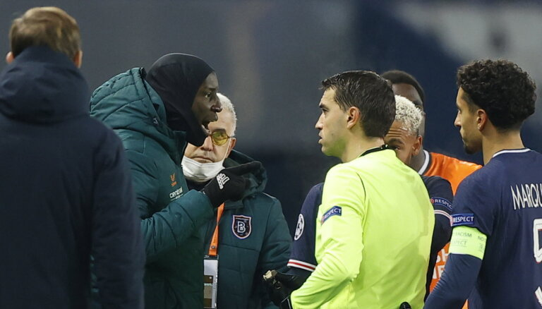 "Матч ""ПСЖ"" - ""Истанбул"" прервали на 16-й минуте. Арбитра обвинили в расизме"