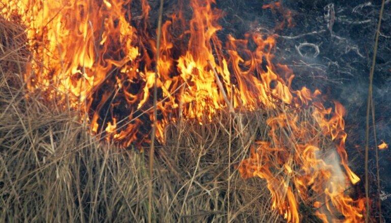 VUGD šogad pirmo reizi dzēsis kūlas ugunsgrēku