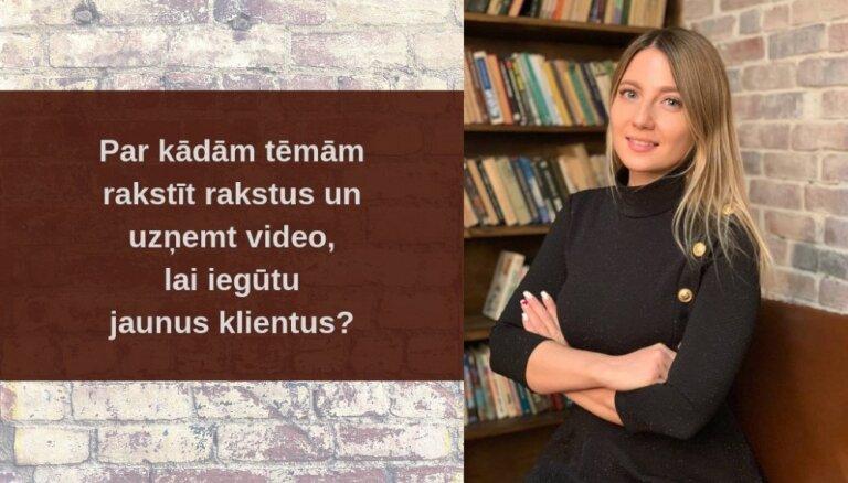 Par kādām tēmām rakstīt rakstus un uzņemt video, lai iegūtu jaunus ieinteresētus klientus, kuri vēlas ar jums sadarboties