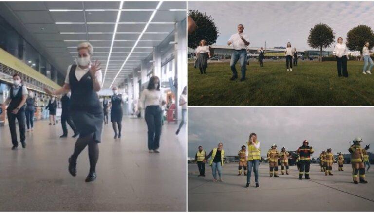 Noskaties! Arī Rīgas lidostas kolektīvs metas 'Jerusalema' dancī
