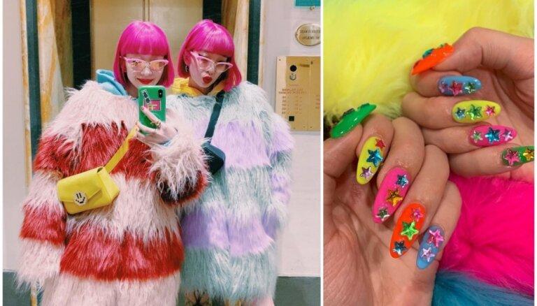 Spilgtas neona krāsas – skaistumkopšanas tendence, ko iecienījušas slavenības