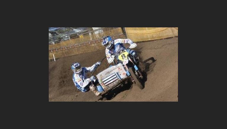 Par spīti kritienam Daideri piedalīsies pasaules čempionāta posmā motokrosā blakusvāģiem Ķegumā