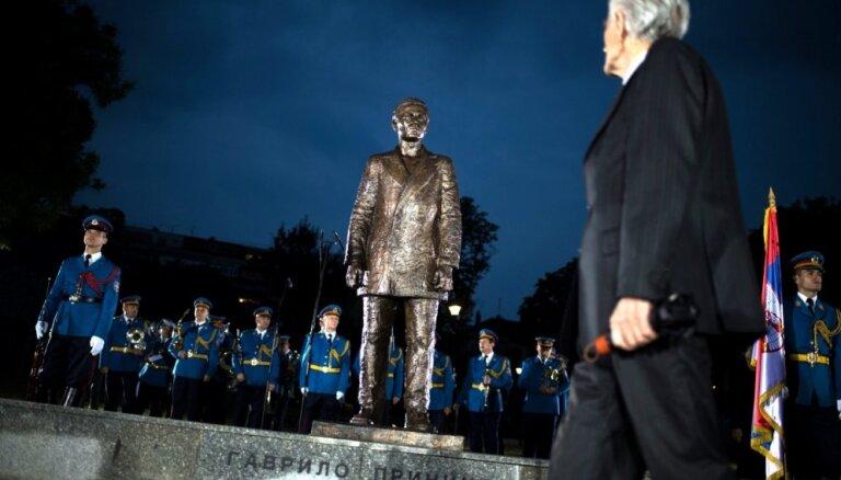 Serbijā atklāj pieminekli Pirmā pasaules kara aizsācējam Gavrilo Principam