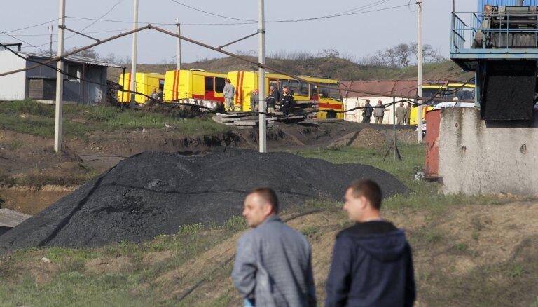 Okupētajā Austrumukrainā gāzes sprādzienā ogļu šahtā 17 bojāgājušie