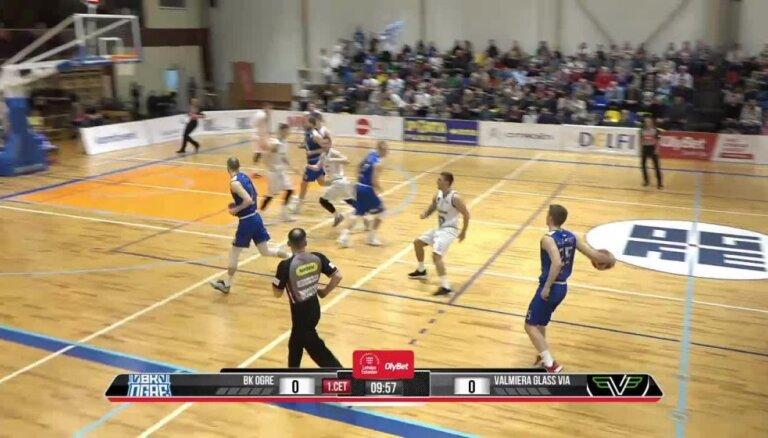 'OlyBet' basketbola līga: 'Ogre' - 'Valmiera glass/ViA'. Pilns ieraksts