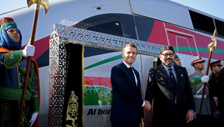 Foto: Marokā atklāts ātrākais vilciens Āfrikā