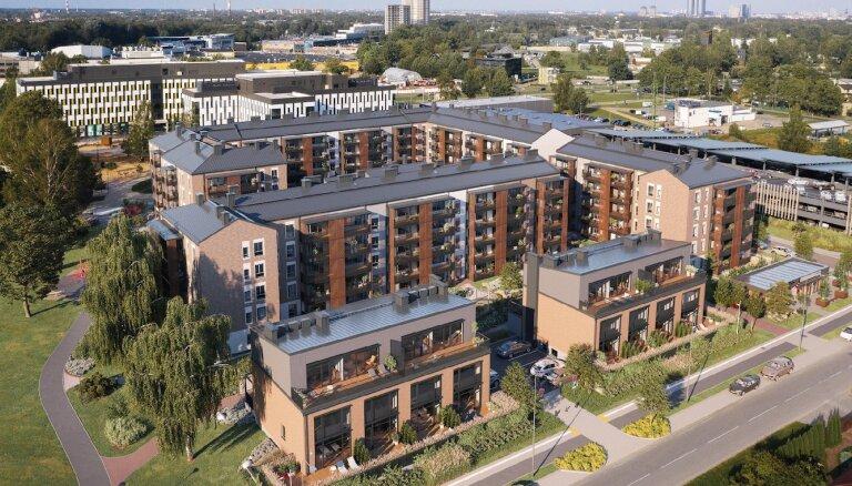 Завершено строительство первой очереди жилого квартала Lindenholma на границе Марупе и Риги