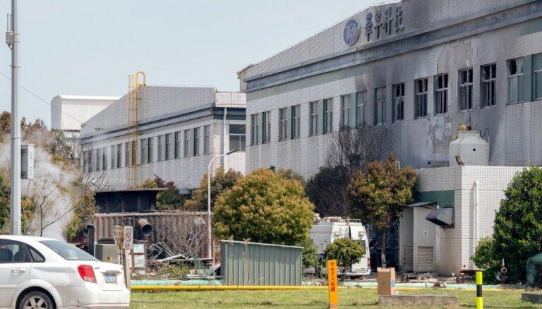 Ķīnā sprādzienā un ugunsgrēkā elektronikas izstrādājumu komponentu ražotnē septiņi bojāgājušie