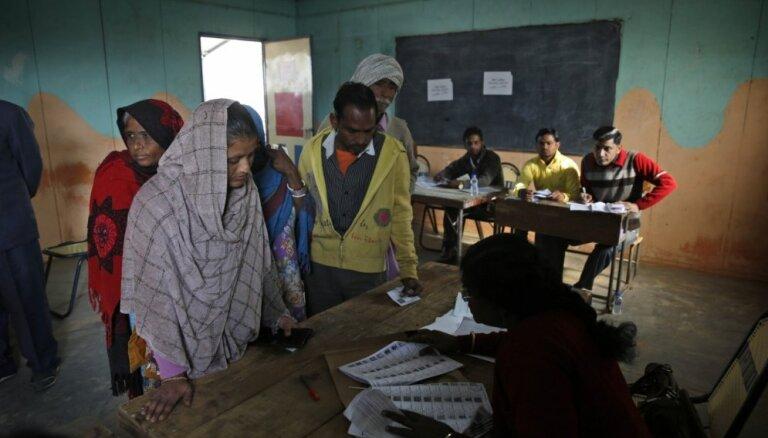 Indijas parlamenta vēlēšanas notiks no 11. aprīļa līdz 19. maijam