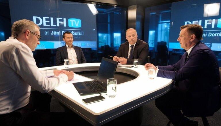 Par ko balsot? Māris Kučinskis, Raimonds Bergmanis un Armands Krauze. Diskusijas teksts