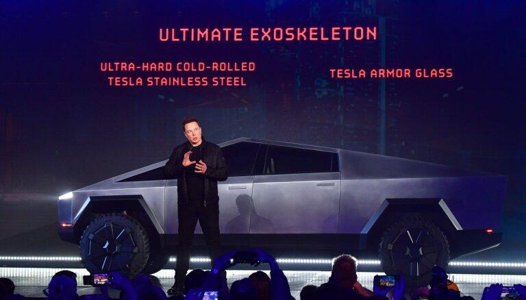 Tesla представила пуленепробиваемый электропикап Cybertruck