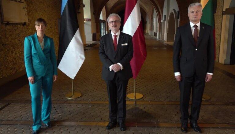 Baltijas valstu prezidenti padomju deportāciju gadadienā bažījas par dezinformācijas vilni