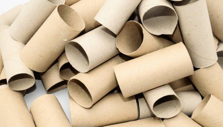 Sienas dekors no tualetes papīra kartoniem