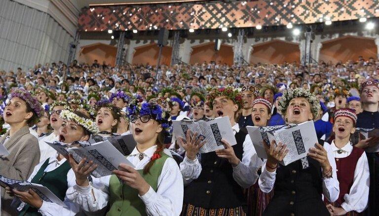 Noskaidrotas Dziesmu svētku dalībnieku iecienītākās kora dziesmas
