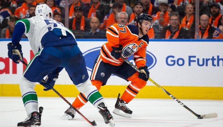 Makdeivids vienbalsīgi atzīts par NHL sezonas vērtīgāko spēlētāju