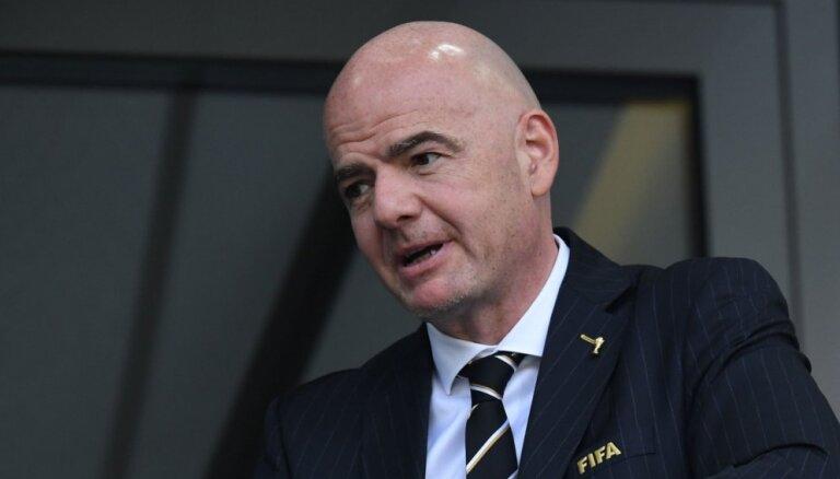 FIFA prezidents piedraudējis potenciālajiem futbola Superlīgas dalībniekiem