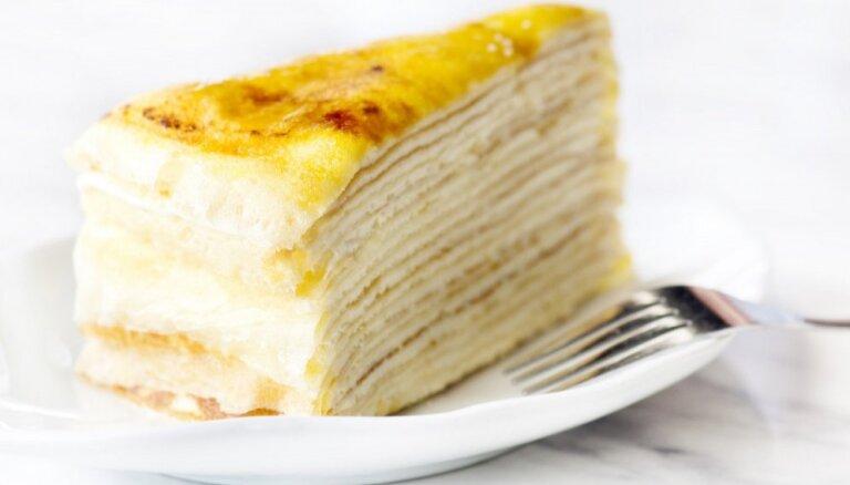 Блинный пирог c медом