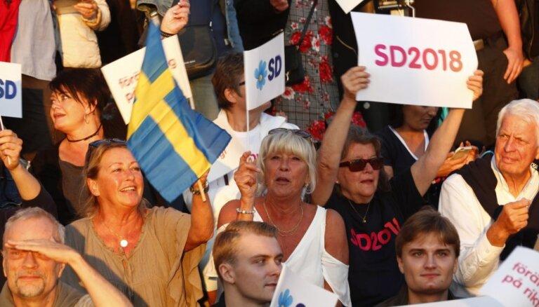 Zviedrijā šodien notiek parlamenta vēlēšanas