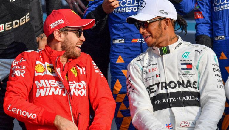 Eklstons: gribētos redzēt Fetela un Hamiltona cīņu 'Mercedes' komandā