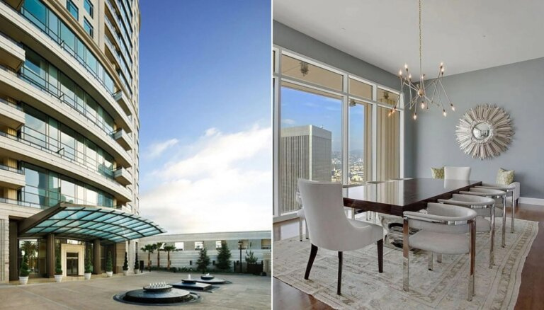 Gluži kā villa Losandželosas debesīs – Metjū Perija askētiski greznais dzīvoklis