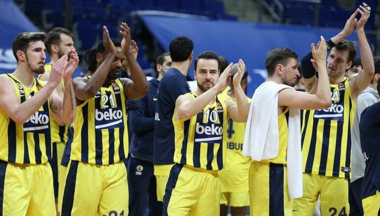 ULEB Eirolīga: 'Fenerbahce' basketbolisti izcīna desmito uzvaru pēc kārtas