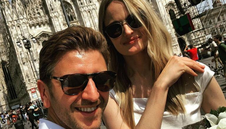 Milānā apprecējusies Kiviča bijusī sieva Elīna Straume