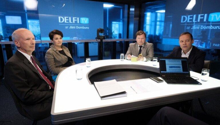 'Delfi TV ar Jāni Domburu' diskusija – ko sagaidām nodokļos un finansēs