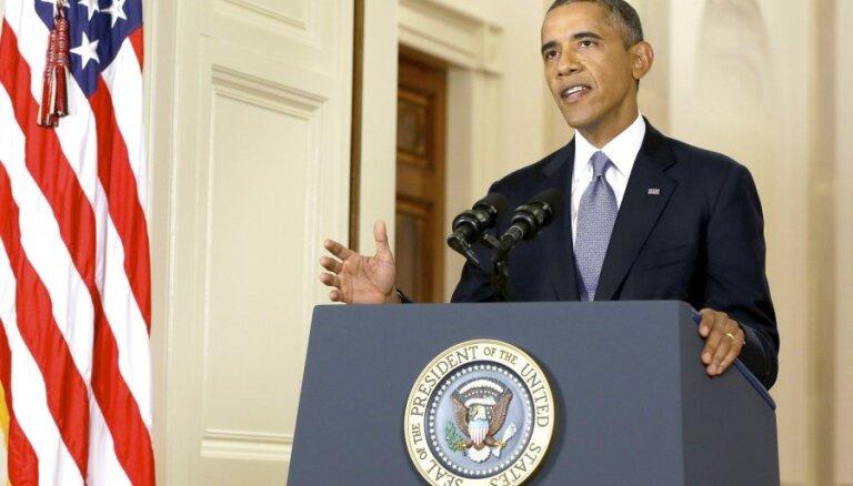 Obama paziņo par jaunām ekonomikas sankcijām pret Krieviju (plkst.22.02)