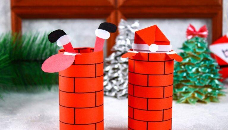Uztaisi pats! Ziemassvētku vecītis skurstenī – dekors bērna veiklajiem pirkstiem