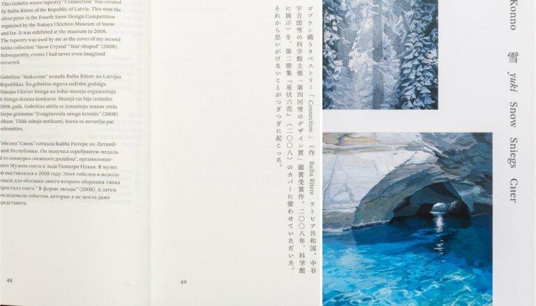 Iznākusi japāņu autores Mari Konno četrvalodīgā grāmata 'Sniegs'