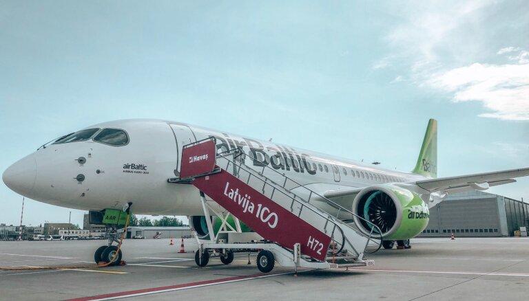 Флот airBaltic пополнился 18-м самолетом Airbus A220-300