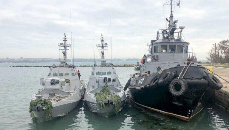 NATO sasauc ārkārtas tikšanos ar Ukrainas amatpersonām par notikumiem Kerčas šaurumā