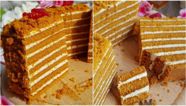 Foto recepte: Ātrā medus kūka soli pa solim