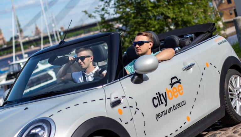 CityBee начал предлагать в Латвии каршеринг кабриолетов
