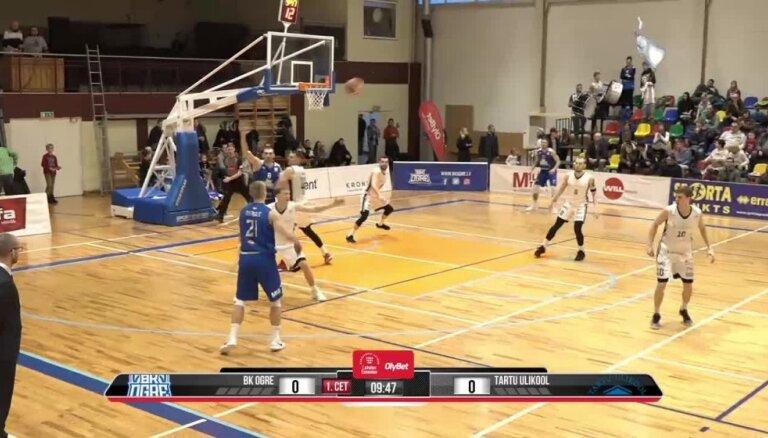 'OlyBet' basketbola līga: 'Ogre' - 'Tartu Ulikool'. Spēles labākie momenti