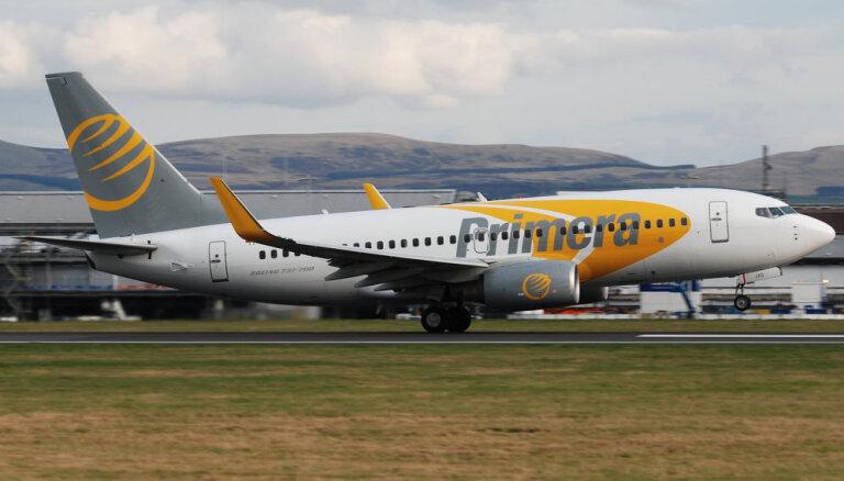 Latvijā bāzētā 'Primera Air' ierindota starp pasaules vadošajām zemo cenu aviokompānijām