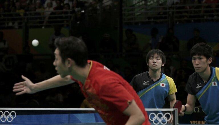 Ķīnas sportisti izcīna visas Rio zelta medaļas galda tenisā