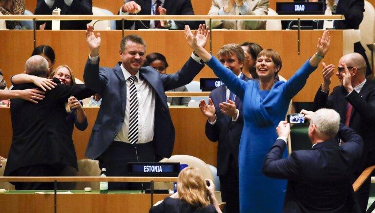 Igaunija ievēlēta par ANO Drošības padomes nepastāvīgo dalībvalsti