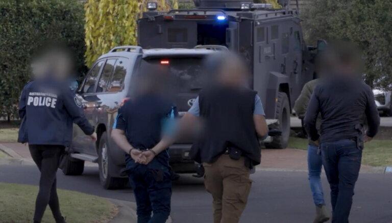 ASV un Austrālijas policijas kopīgā operācijā 18 valstīs aizturēti simtiem cilvēku