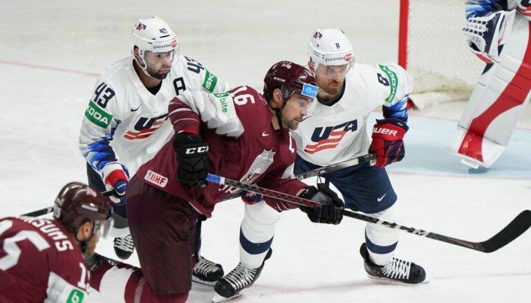 Latvijas hokeja izlase nākamo pasaules čempionātu uzsāks ar spēli pret ASV