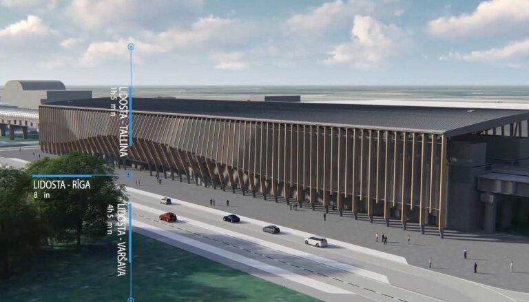 Šomēnes sāksies 'Rail Baltica' stacijas un infrastruktūras būvniecība lidostā