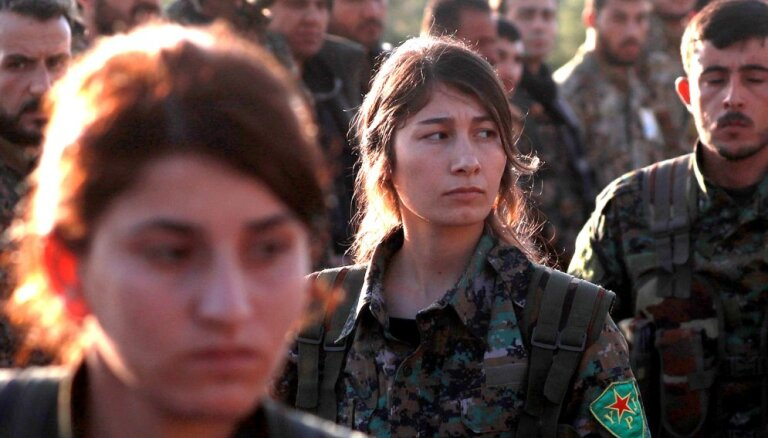 Karte: ASV balstītie kurdi ieņem 'Daesh' nocietināto Hadžīnu