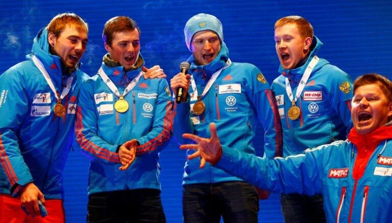 ВИДЕО: Как на ЧМ по биатлону перепутали гимн России и выход Губерниева с микрофоном