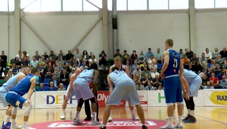'Ogres' basketbolisti ar uzvaru sāk cīņu par LBL bronzas medaļām