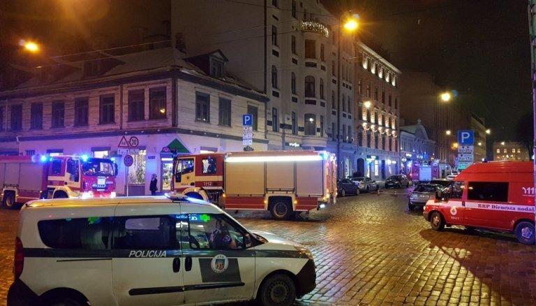 В четверг вечером на улице Блауманя в Риге вспыхнул пожар повышенной опасности