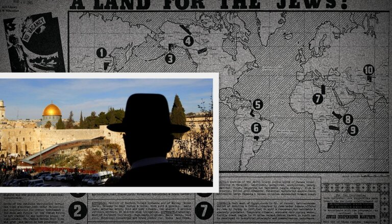 Atskats vēsturē: kāda ebreju nacionālista plāni valstij ārpus Palestīnas